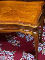 Small Desk or Hall Table - Exquisitely Veneered with Birds Eye Maple