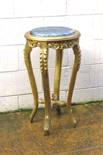 Antique Style French Gilt Marble Topped Plinth, Jardiniere Plant Stand sold
