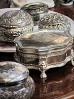 Selection of Antique & Vintage Silver Plated Jewellery & Trinket Boxes