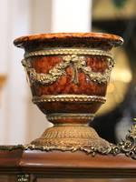 Italian Faux Marble Decorative Urn Jardiniere Giordano Di Ponzano