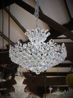 Cut Crystal Ball Chandelier $3950.00 Last one
