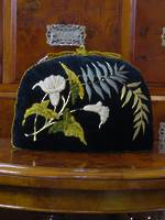 Victorian Embroidered Velvet Tea Cosy - Botanical Strawberries With Provenance