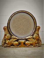 Egyptian Revival Gilded Mirror with Crouching Sphinx like GargoylesSOLD