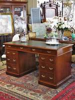 Antique English Oak Pedestal Desk $3250.00