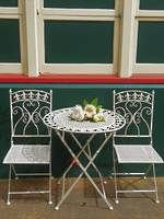 Fleur de Lys French Style Cafe Set Only chairs available