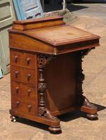 Antique Walnut Davanport with Original Leather Writing Slope $2250.00