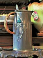 Extremely Rare Archibald Knox Liberty & Co Tudric Pewter Jug with Enamel