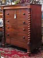 Huge  Antique English Mahogany Chest of Drawers Scotch Dresser with Secrets.... $4,500.00