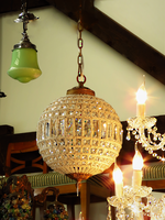 Small Size Beaded Crystal Ball Basket Chandelier $1195.00 Medium size $1750.00