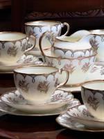 21 Piece Art Deco Era Tea Set by Salisbury