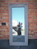 Large Pressed Metal Mirror in Taupe SOLD - Can order in