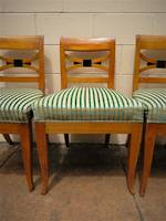 Set of 4 Art Deco Designer Chairs European Birch $1600