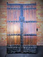 Antique Chinese Elm & Iron Entrance Way Doors SOLD