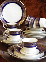 Fine Porcelain Noritake Gold & Blue Tea Service SOLD