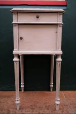 French Antique Bedside With Marble Top $950