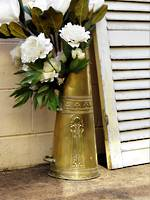 Exceptional Art Nouveau Polished Brass Coal Scuttle, Umbrella stand, Floor Vase
