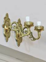 Vintage Brass Wall Brackets, matching Brass ceiling light available $950.00 3 pieces