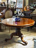 Spectacular Tortoiseshell Burr Walnut 19th Century Table $4995.00 Rare!!