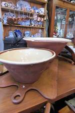 Rare English Antique Mixing Bowls - Industrial Size ! Large only $295.00