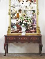 Fine Oak Georgian Style Console  (Mirror not included) $2950.00
