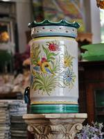 19th Century Italian Majolica Floor Vase or Umbrella Stand