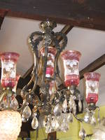 Italian Chandelier with Pink Shades $3950