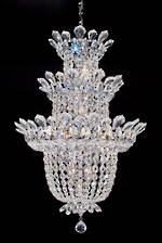 Three Tier Crystal Chandelier SOLD