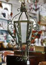 19th Century French Wrought Iron lantern $465.00
