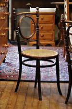 Unusual Bentwood Bistro Dining Chairs with Cane Seats  x 8 $1600