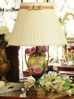 Victorian Hand-Painted Porcelain Urn Table Lamp SOLD