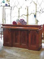 English Mahogany Sideboard with Arched Panels SOLD