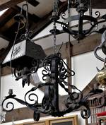 Large Wrought Iron Chandelier $2250