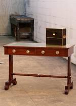 William VI Leather Top Desk or Sofa Table $1950