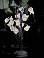 Vintage Glass Tulips Table Lamp