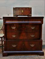 19th Century Flame Mahogany Chest of Drawers $1850.00
