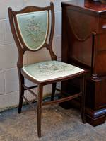 Dainty French Shield Back Chair with Embroidered Seat