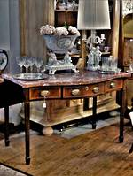 French Antique Marble Topped Console or Desk in the Sheraton Style $2950