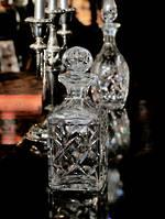 Webb & Corbet Cut Crystal Whiskey Decanter $175