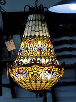 Unique Leadlight Basket Chandelier $2750.00