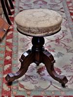 Antique Revolving Piano Stool, Edwardian, Mahogany $495
