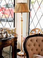 Original French Standard Lamp, Marble & Gilt Ormolu Base