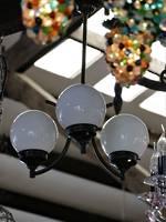 Art Deco Ceiling Light - Tri Globe Shade - Bronze Finish $650