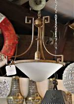 Huge Art Deco Bronze & Glass Light SOLD