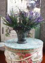 Art Nouveau Glass Lined French Basket Flower Vase