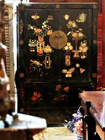 Antique Chinese Wedding Chest Cabinet Wardrobe linen Press $2950