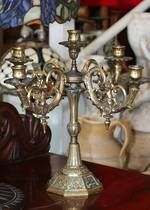 Vintage French Bronze Candelabra - Cherubs SOLD