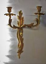 Original French Gilded Wall Candle Sconce  $325