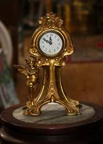 Rare Art Nouveau French Gilded Clock $950
