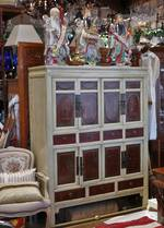 Mid Century Chinese Wedding Chest or Wardrobe $1950