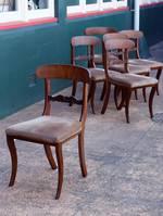 Antique Mahogany Dining Chairs x 6 $2400  William IV